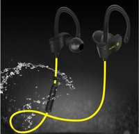 Wholesale 2016 Hot Selling Wireless Bluetooth Stereo Earphone Fashion Sport Running Headphone Studio Music Headset With Microphone Deep Bass A