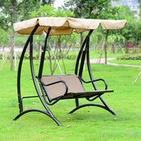 bench garden seat - Durable iron person canopy garden swing Chair hammock outdoor furniture cover seat bench