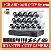 Système de caméra CIA- 16CH 960H HDMI CCTV QR Code Easy Scan de sécurité avec caméra de surveillance de sécurité 800TVL Outdoor