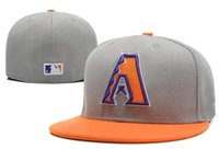 arizona hat - newst full Closed Arizona Diamondbacks Kansas City Royals San Francisco Giants fitted hat sport team high quality baseball men women caps