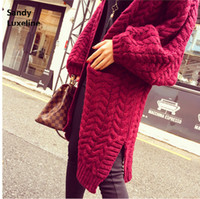 Wholesale long autumn cardigan women sweaters loose jumper women cardigan basic coats sweater oversized sweater knitted cardigan