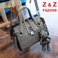 bear muppets - Korean style Newest Female bag shoulder bag shackle street fashion Messenger bag Comprising Bear Muppets handbag