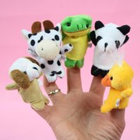 baby reptiles - 2016 new Retail Baby Plush Toy Finger Puppets Talking Props animal group set Stuffed animals