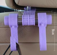 Wholesale LJJK305 Car Vehicle Auto Visor Accessories bag Organizer Holder Hook Hanger Coat Purse Shopping Seat Back Headrest Holder Plastic Hanger