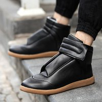 Wholesale 2016 high Quality Maison Martin Margiela Casual Shoes Lace Up Flats Men Genuine Leather Leisure Flat Shoes fashion tenis shoes