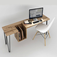Wholesale American retro home desktop computer desk desk desk desk work desk pine wood long table Free Post