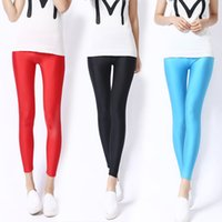 Wholesale The New Spring and Summer Nine Points Leggings Show Thin Thin Section Color Luster of Pants