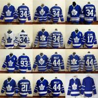 Wholesale 2016 Leafs Jersey Auston Matthews Mitchell Marner Lupul Gilmour Van Riemsdyk Clark White Blue Hockey Jerseys