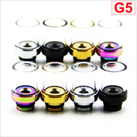 Wholesale Glass Drip Tip with wide mouthpiece stainless steel material for DCT Protank removable drip tip style DHL Free