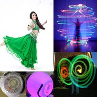 belly dance props - Hot LED Hand Props women led poi thrown balls for accessories hand belly dance props on sale