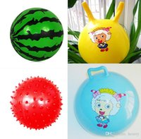 Wholesale Kindergarten special children s inflatable ball Baby watermelon balls pat a small ball Croissants ball g