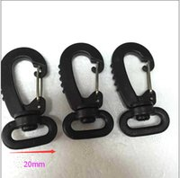 Wholesale 100pcs Pack Plastic Swivel Snap Hook Black For Weave Paracord Lanyard Buckles Backpack Straps Webbing mm FLC113 A