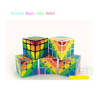 Wholesale Branw New YongJun Colorful x3x3 Magic Cube mm Rainbow Irregular Mirror Speed Puzzle Kids Adult Education Toys