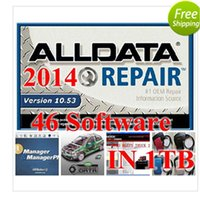 Wholesale 2016 car software alldata v10 mitchell on demand ATSG vivid work shop wds etc software in TB hdd DHL Free