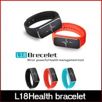 apple management - 2016 Newest L18Health bracelet Powerful health management tool on the wrist Smart Wristbands L18Health bracelet freeshipping
