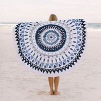 bath towel beach - Large Microfiber Printed Round Beach Towels With Tassel Circle Beach Towel Serviette De Plage