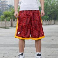 Wholesale Men Design Basketball Shorts Knee Length Running Sports Shorts Zipper Pocket Loose Gym Shorts Plus Size XL