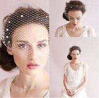 beautiful hair cuts - 2016 Wedding Hair Accessories Romantic Beautiful Nice Bridal Lady Accessories Beading Pearls Handmade Flowers Net Bridal Veils CPA126
