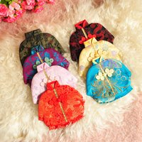 Wholesale Vintage Flower Coin Purse Coin Purse Women Coin Purse Wallet Tang Suit Handbag In the new Christmas candy bag High end Christmas gift