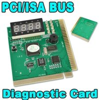 Wholesale SMAKN PCI and ISA Motherboard Diagnostic Tester digit display PC computer motherboard analyzer Debug Postcard