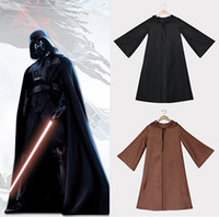 adult knight costume - 2016 New Hot Star Wars Halloween Costumes Black Knight Darth Vader Jedi Knight Cloaks Cosplay Costumes Robes Gloves For Adults
