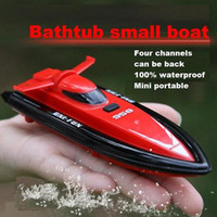 Wholesale Rc boat mini household speedboat model remote control toy airship charge wireless electric child toy