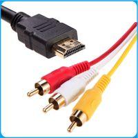 NOUVEAU 5 pieds 1080P HDTV HDMI mâle vers 3 RCA Audio Vidéo Câble AV gros adaptateur de cordon