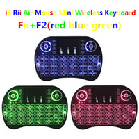 Wholesale Rii I8 Smart Fly Air Mouse Remote Backlight GHz Wireless Bluetooth Keyboard Remote Control Touchpad For S905X S912 TV Android Box X96 T95