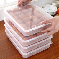 Wholesale Egg Box Single Grides Plastic Egg Tray Refrigerator Egg Storage Box Refrigerated Storage Box High Quality