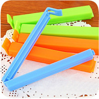 Wholesale 15 Candy Color Bag clip for Food Snack Bag Storage Sealing Clips Seal Clamp Plastic Bags Ziplock Clip Home Supplies