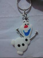 best anime characters - Best Gift Anime Cartoon Movie Frozen Keychain Set Cute Elsa Anna Olaf Snow Romance Snow treasure Sided key chain