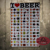 beer charts - I LOVE BEER Poster Funny College CM iron Print Beer Drinking Chart A