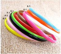 Wholesale Plastic headband Fashion Plain Girl Plastic Hair Band Headband with teeth