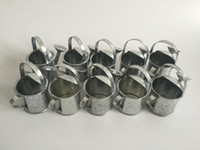 Wholesale Silvery color Party Favors Mini Watering cans sharp pure tin box Iron pots metal decorative mini watering cans