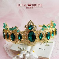 american baroque - Crown Star Fashion retro Baroque hair jewelry tiara earrings two piece stage photography shoot hair jewelry women headpiece