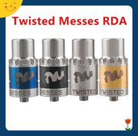 adjustable es - Twis ted Mess es RDA Atomizer Single Ring Kit with Wide Bore Drip Adjustable Airflow VS Baal V3 RDA Fountain V2 Rda