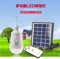 Wholesale Environmental protection solar rechargeable led bulb lamp highlighting energy saving lighting lamps and lanterns night market a street