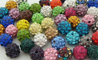 Wholesale 300pcs mm can choose color mix Micro Pave CZ Disco Crystal Shamballa Bead Bracelet Necklace Beads good Rhinestone DIY loose spacer DIY