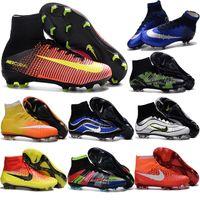 Wholesale High Ankle cheap Original Mercurial Superfly CR7 FG cristiano ronaldo Mens Magista Soccer Cleats Boots Womens Hypervenom Kids Football Shoes