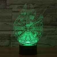 alien table - Alien Spacecraft D Acrylic Visual Home Touch Table Lamp Colorful Art Decoration USB LED Children s Desk Night Light