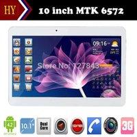 10 pouces MTK6572 Dual Core 1.2Ghz Android 4.2 WCDMA 3G tablette Phone Call bluetooth pc GPS Wifi Dual Camera 2 Emplacement pour carte SIM + cadeaux