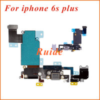 Wholesale For iphone s s plus USB Dock Connector Charger Charging Port Flex Cable for iPhone s inch s Plus inch free ship HK post