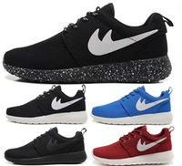Wholesale Cheap New Original Logo real Roshe Run women and men Rosherun Black White Red running shoes London Olympic Athletic Outdoor sneakers