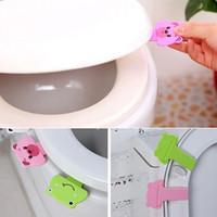 Wholesale Vorkin Hot Sale Creative cute cartoon portable toilets lid handle Uncovery flip lid Toilet cover lifter