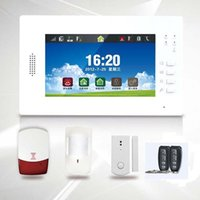Wholesale Quad Band Wireless GSM PSTN alarm system Inch LCD Full Touch Screen Full Color MHZ