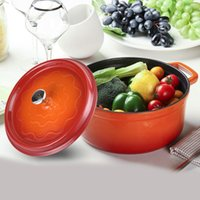Wholesale orange enamel cast iron pot with cm