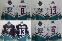 best quali - Men s Anaheim Ducks selanne kariya Selanne white Black CCM Throwback Ice Hockey Jerseys Best Quality Low Price jerseys Top Quali