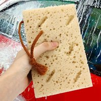 Wholesale New Helpful Mini Yellow Car Auto Washing Cleaning Sponge Block For Car Care HA10439