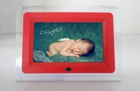 acrylic photo frame with light - 7 inch LCD Digital Photo Frame LED flash light With MP3 MP4 Player special gift for French customer