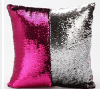 Wholesale Reversible Sequin Mermaid Sequin Pillow Magical Color Changing Throw Pillow Cover Home Decor Cushion Cover Decorative Pillowcase